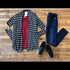 Sweaters - Kara elbow patch cardigan